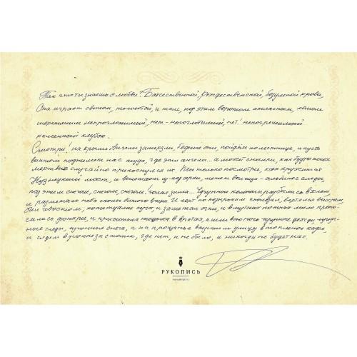 Рукопись Александры Николаенко